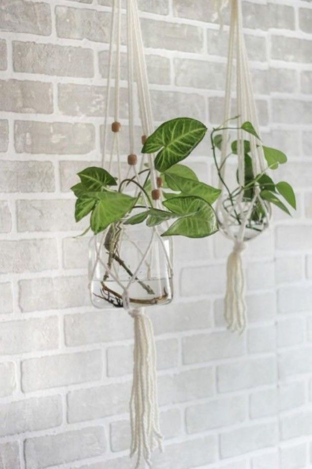 Farmhouse Decor to Make And Sell - DIY Macrame Hanging Plant Holder - Easy DIY Home Decor and Rustic Craft Ideas - Step by Step Country Crafts, Farmhouse Decor To Make and Sell on Etsy and at Craft Fairs - Tutorials and Instructions for Creative Ways to Make Money - Best Vintage Farmhouse DIY For Living Room, Bedroom, Walls and Gifts #diydecor