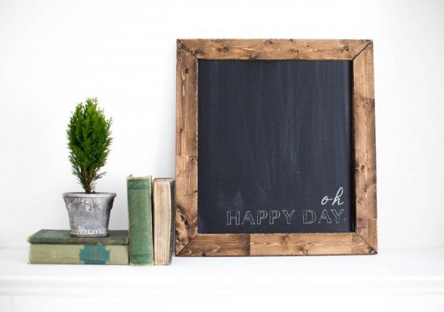 Farmhouse Decor to Make And Sell - DIY Magnetic Chalkboard - Easy DIY Home Decor and Rustic Craft Ideas - Step by Step Country Crafts, Farmhouse Decor To Make and Sell on Etsy and at Craft Fairs - Tutorials and Instructions for Creative Ways to Make Money - Best Vintage Farmhouse DIY For Living Room, Bedroom, Walls and Gifts #diydecor