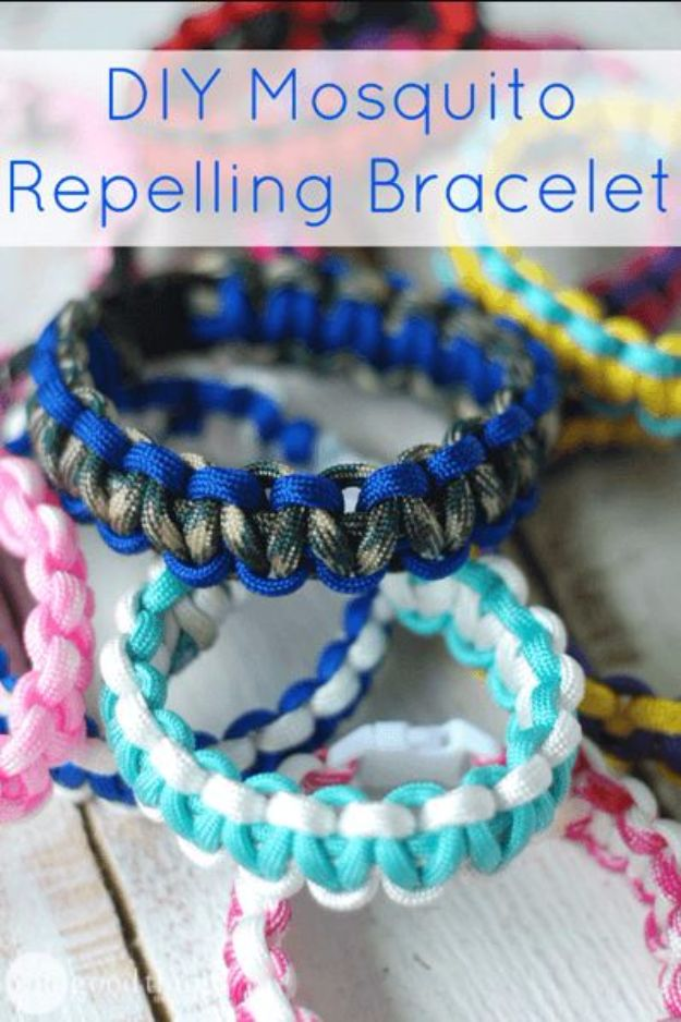 DIY Camping Hacks - DIY Mosquito Repelling Bracelet - Easy Tips and Tricks, Recipes for Camping - Gear Ideas, Cheap Camping Supplies, Tutorials for Making Quick Camping Food, Fire Starters, Gear Holders and More http://diyjoy.com/camping-hacks