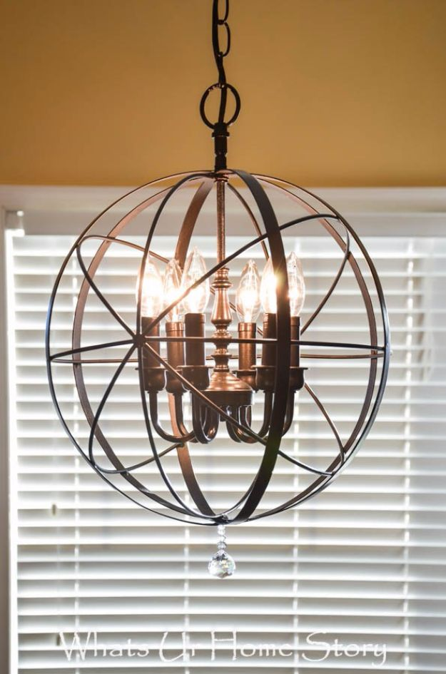 DIY Chandelier Makeovers - DIY Orb Chandelier - Easy Ideas for Old Brass, Crystal and Ugly Gold Chandelier Makeover - Cool Before and After Projects for Chandeliers - Farmhouse, Shabby Chic and Vintage Home Decor on A Budget - Living Room, Bedroom and Dining Room Idea DIY Joy Projects and Crafts