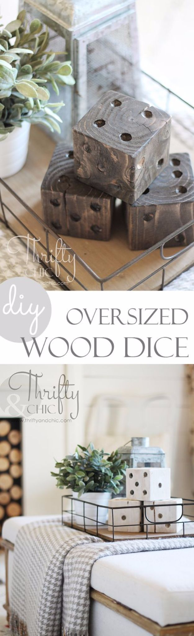 Farmhouse Decor to Make And Sell - DIY Oversized Wood Dice - Easy DIY Home Decor and Rustic Craft Ideas - Step by Step Country Crafts, Farmhouse Decor To Make and Sell on Etsy and at Craft Fairs - Tutorials and Instructions for Creative Ways to Make Money - Best Vintage Farmhouse DIY For Living Room, Bedroom, Walls and Gifts #diydecor