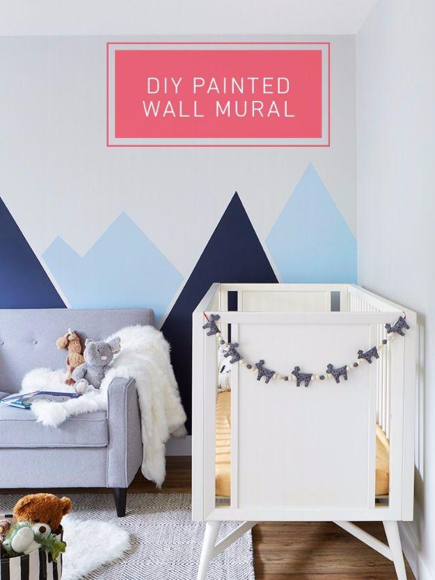 31 diy playroom decor and organization diy joy for Diy wall mural painting