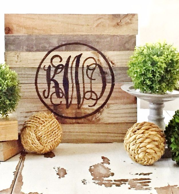 Farmhouse Decor to Make And Sell - DIY Reclaimed Wood Monogram - Easy DIY Home Decor and Rustic Craft Ideas - Step by Step Country Crafts, Farmhouse Decor To Make and Sell on Etsy and at Craft Fairs - Tutorials and Instructions for Creative Ways to Make Money - Best Vintage Farmhouse DIY For Living Room, Bedroom, Walls and Gifts #diydecor