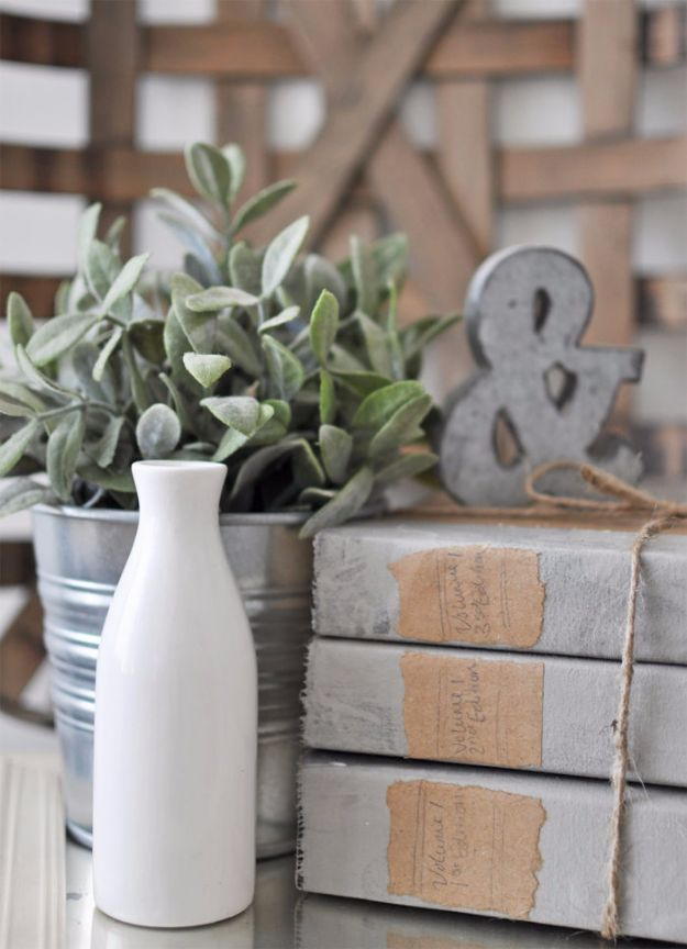 Farmhouse Decor to Make And Sell - DIY Restoration Hardware Book Set - Easy DIY Home Decor and Rustic Craft Ideas - Step by Step Country Crafts, Farmhouse Decor To Make and Sell on Etsy and at Craft Fairs - Tutorials and Instructions for Creative Ways to Make Money - Best Vintage Farmhouse DIY For Living Room, Bedroom, Walls and Gifts #diydecor