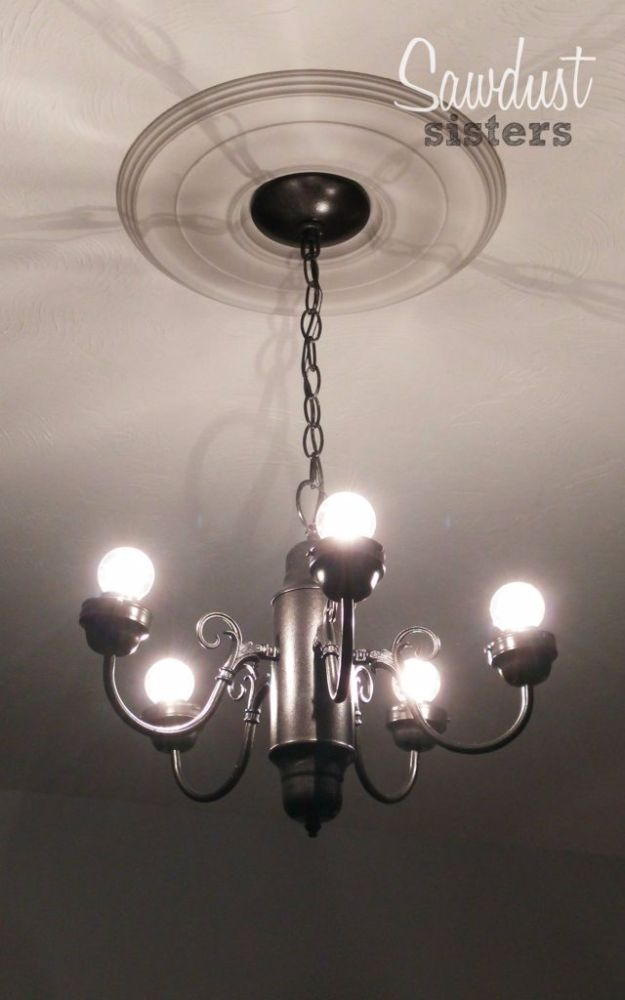 DIY Chandelier Makeovers - DIY Simple Chandelier Makeover - Easy Ideas for Old Brass, Crystal and Ugly Gold Chandelier Makeover - Cool Before and After Projects for Chandeliers - Farmhouse, Shabby Chic and Vintage Home Decor on A Budget - Living Room, Bedroom and Dining Room Idea DIY Joy Projects and Crafts