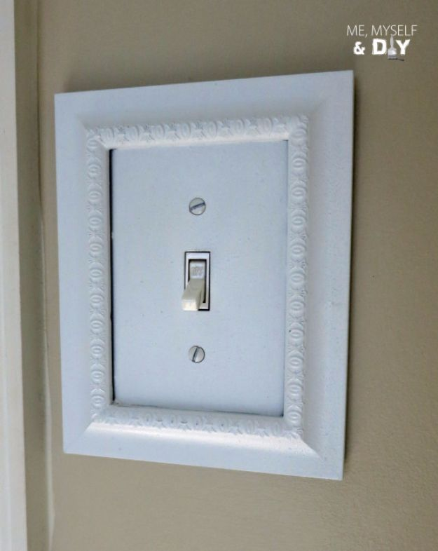 DIY Remodeling Hacks - DIY Switch Plate - Quick and Easy Home Repair Tips and Tricks - Cool Hacks for DIY Home Improvement Ideas - Cheap Ways To Fix Bathroom, Bedroom, Kitchen, Outdoor, Living Room and Lighting - Creative Renovation on A Budget - DIY Projects and Crafts by DIY JOY #remodeling #homeimprovement #diy #hacks