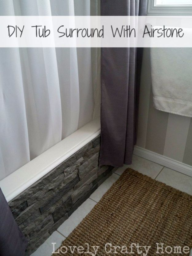 DIY Remodeling Hacks - DIY Tub Surround With Airstone - Quick and Easy Home Repair Tips and Tricks - Cool Hacks for DIY Home Improvement Ideas - Cheap Ways To Fix Bathroom, Bedroom, Kitchen, Outdoor, Living Room and Lighting - Creative Renovation on A Budget - DIY Projects and Crafts by DIY JOY http://diyjoy.com/diy-remodeling-hacks