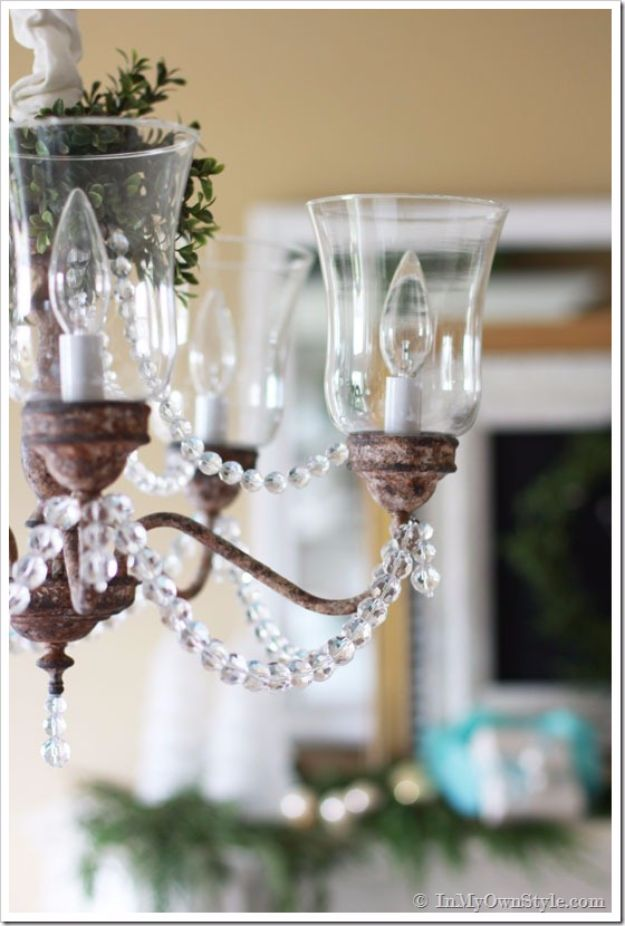 DIY Chandelier Makeovers - Dining Room Brass Chandelier Makeover - Easy Ideas for Old Brass, Crystal and Ugly Gold Chandelier Makeover - Cool Before and After Projects for Chandeliers - Farmhouse, Shabby Chic and Vintage Home Decor on A Budget - Living Room, Bedroom and Dining Room Idea DIY Joy Projects and Crafts http://diyjoy.com/diy-chandelier-makeovers