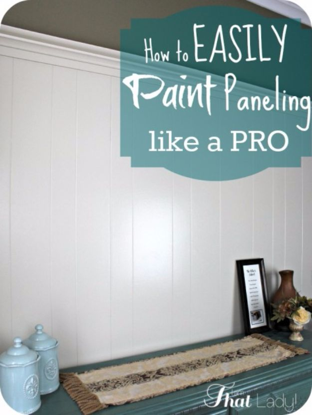 DIY Remodeling Hacks - Easily Paint Paneling - Quick and Easy Home Repair Tips and Tricks - Cool Hacks for DIY Home Improvement Ideas - Cheap Ways To Fix Bathroom, Bedroom, Kitchen, Outdoor, Living Room and Lighting - Creative Renovation on A Budget - DIY Projects and Crafts by DIY JOY #remodeling #homeimprovement #diy #hacks