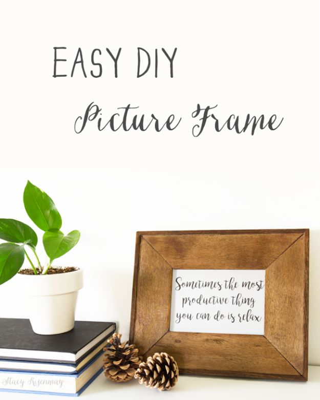 Farmhouse Decor to Make And Sell - Easy DIY Picture Frame - Easy DIY Home Decor and Rustic Craft Ideas - Step by Step Country Crafts, Farmhouse Decor To Make and Sell on Etsy and at Craft Fairs - Tutorials and Instructions for Creative Ways to Make Money - Best Vintage Farmhouse DIY For Living Room, Bedroom, Walls and Gifts #diydecor