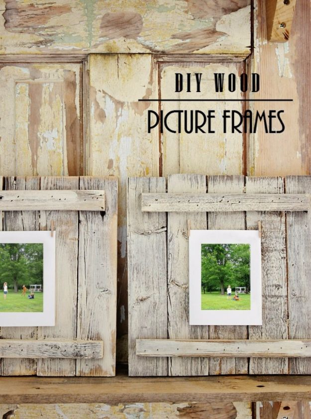 Farmhouse Decor to Make And Sell - Easy DIY Wood Picture Frame - Easy DIY Home Decor and Rustic Craft Ideas - Step by Step Country Crafts, Farmhouse Decor To Make and Sell on Etsy and at Craft Fairs - Tutorials and Instructions for Creative Ways to Make Money - Best Vintage Farmhouse DIY For Living Room, Bedroom, Walls and Gifts #diydecor
