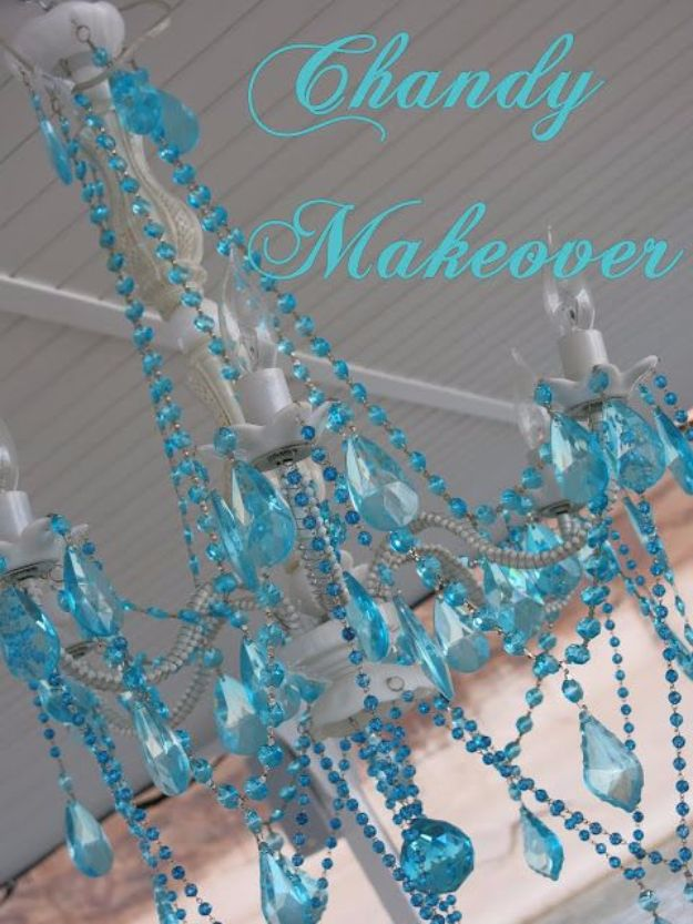 DIY Chandelier Makeovers - Easy Outdoor Chandelier Makeover - Easy Ideas for Old Brass, Crystal and Ugly Gold Chandelier Makeover - Cool Before and After Projects for Chandeliers - Farmhouse, Shabby Chic and Vintage Home Decor on A Budget - Living Room, Bedroom and Dining Room Idea DIY Joy Projects and Crafts http://diyjoy.com/diy-chandelier-makeovers