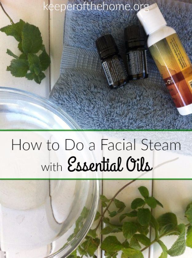 DIY Spa Day Ideas - Facial Steam With Essential Oils - Easy Sugar Scrubs, Lotions and Bath Ideas for The Best Pampering You Can Do At Home - Lavender Projects, Relaxing Baths and Bath Bombs, Tub Soaks and Facials - Step by Step Tutorials for Luxury Bath Products http://diyjoy.com/diy-spa-day-ideas