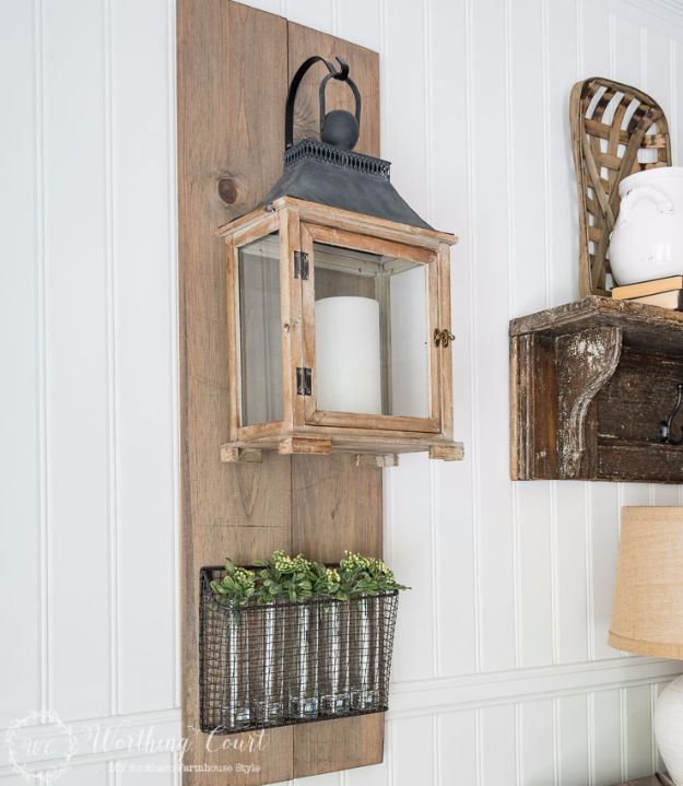 Farmhouse Decor to Make And Sell - Farmhouse Hanging Lantern Display - Easy DIY Home Decor and Rustic Craft Ideas - Step by Step Country Crafts, Farmhouse Decor To Make and Sell on Etsy and at Craft Fairs - Tutorials and Instructions for Creative Ways to Make Money - Best Vintage Farmhouse DIY For Living Room, Bedroom, Walls and Gifts #diydecor