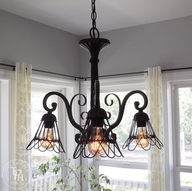 DIY Chandelier Makeovers - Farmhouse Style Chandelier Makeover - Easy Ideas for Old Brass, Crystal and Ugly Gold Chandelier Makeover - Cool Before and After Projects for Chandeliers - Farmhouse, Shabby Chic and Vintage Home Decor on A Budget - Living Room, Bedroom and Dining Room Idea DIY Joy Projects and Crafts http://diyjoy.com/diy-chandelier-makeovers
