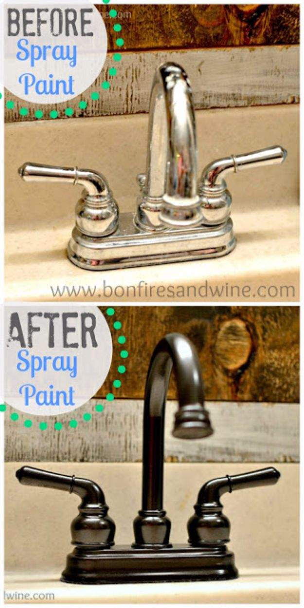DIY Remodeling Hacks - Faucet Face Lift - Quick and Easy Home Repair Tips and Tricks - Cool Hacks for DIY Home Improvement Ideas - Cheap Ways To Fix Bathroom, Bedroom, Kitchen, Outdoor, Living Room and Lighting - Creative Renovation on A Budget - DIY Projects and Crafts by DIY JOY #remodeling #homeimprovement #diy #hacks
