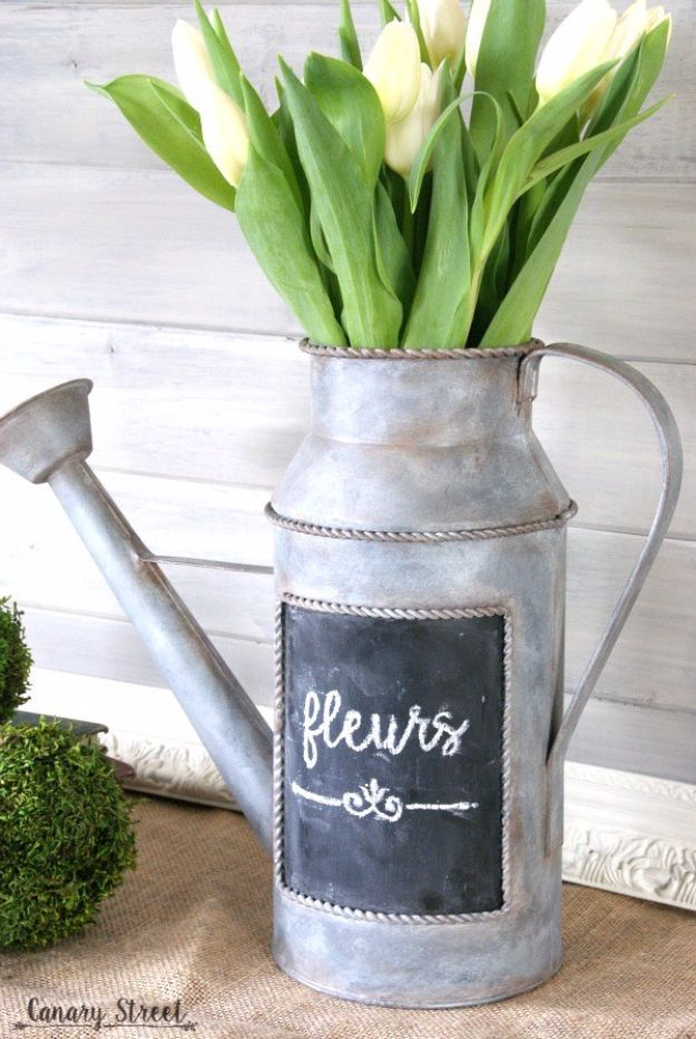 Farmhouse Decor to Make And Sell - Faux Galvanized Metal Finish - Easy DIY Home Decor and Rustic Craft Ideas - Step by Step Country Crafts, Farmhouse Decor To Make and Sell on Etsy and at Craft Fairs - Tutorials and Instructions for Creative Ways to Make Money - Best Vintage Farmhouse DIY For Living Room, Bedroom, Walls and Gifts #diydecor