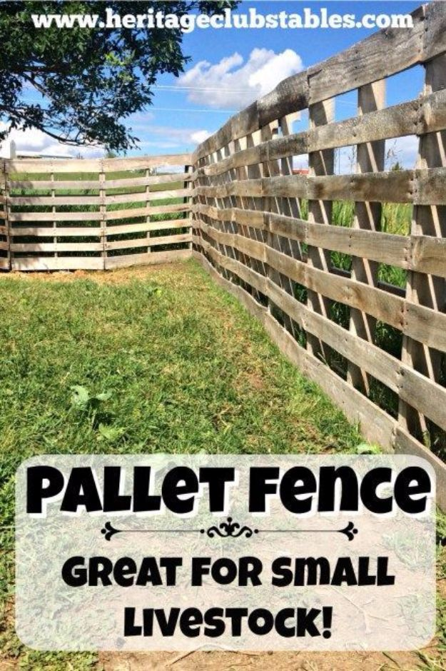DIY Ideas With Old Fence Posts - Fence For Small Livestock - Rustic Farmhouse Decor Tutorials and Projects Made With An Old Fence Post - Easy Vintage Shelving, Wall Art, Picture Frames and Home Decor for Kitchen, Living Room and Bathroom - Creative Country Crafts, Seating, Furniture, Patio Decor and Rustic Wall Art and Accessories to Make and Sell