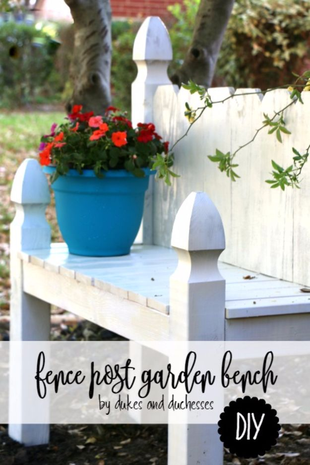 DIY Ideas With Old Fence Posts - Fence Post Garden Bench - Rustic Farmhouse Decor Tutorials and Projects Made With An Old Fence Post - Easy Vintage Shelving, Wall Art, Picture Frames and Home Decor for Kitchen, Living Room and Bathroom - Creative Country Crafts, Seating, Furniture, Patio Decor and Rustic Wall Art and Accessories to Make and Sell