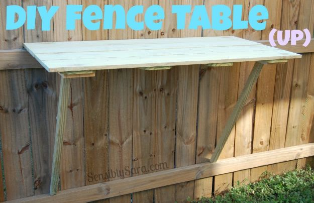 DIY Ideas With Old Fence Posts - Fence Table - Rustic Farmhouse Decor Tutorials and Projects Made With An Old Fence Post - Easy Vintage Shelving, Wall Art, Picture Frames and Home Decor for Kitchen, Living Room and Bathroom - Creative Country Crafts, Seating, Furniture, Patio Decor and Rustic Wall Art and Accessories to Make and Sell