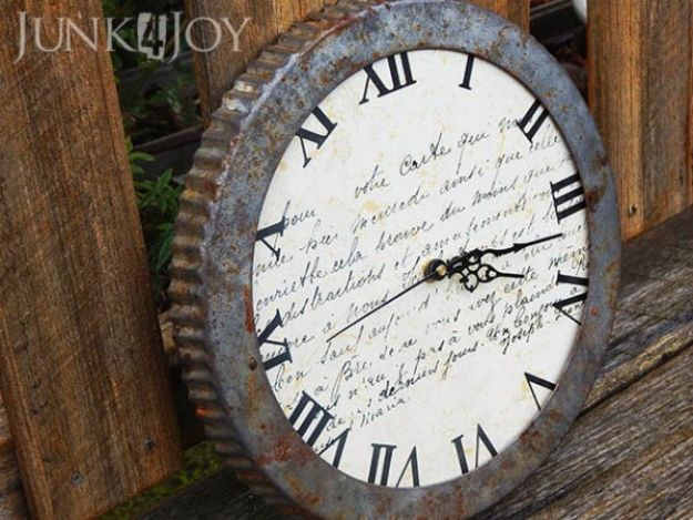 Country Crafts to Make And Sell - Flan Tin Clock - Easy DIY Home Decor and Rustic Craft Ideas - Step by Step Farmhouse Decor To Make and Sell on Etsy and at Craft Fairs - Tutorials and Instructions for Creative Ways to Make Money - Best Vintage Farmhouse DIY For Living Room, Bedroom, Walls and Gifts #craftstosell #countrycrafts #etsyideas