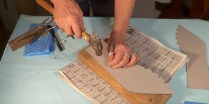 She Makes A Pattern And Traces It On Wood. What She Does Next Is So Cool!