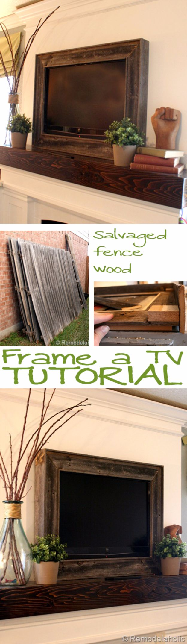 DIY Remodeling Hacks - Frame A TV - Quick and Easy Home Repair Tips and Tricks - Cool Hacks for DIY Home Improvement Ideas - Cheap Ways To Fix Bathroom, Bedroom, Kitchen, Outdoor, Living Room and Lighting - Creative Renovation on A Budget - DIY Projects and Crafts by DIY JOY #remodeling #homeimprovement #diy #hacks