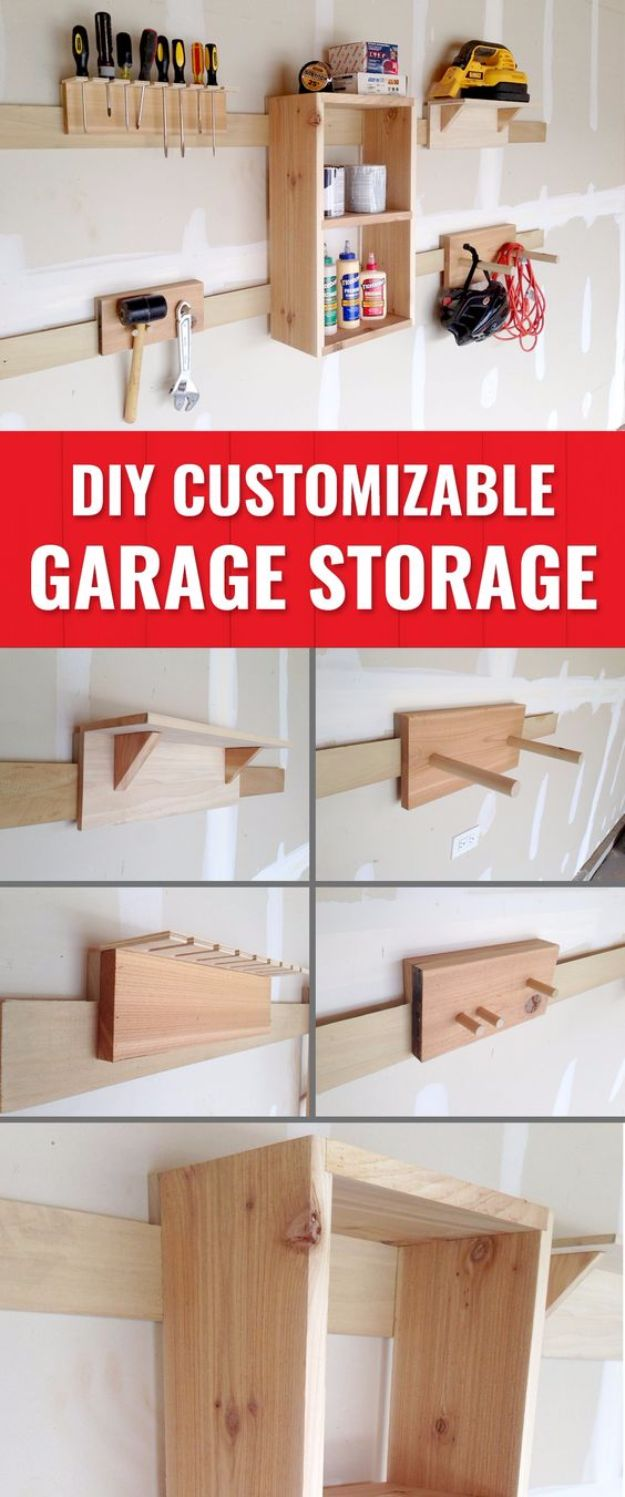 DIY Projects Your Garage Needs - French Cleat Storage Solutions - Do It Yourself Garage Makeover Ideas Include Storage, Mudroom, Organization, Shelves, and Project Plans for Cool New Garage Decor - Easy Home Decor on A Budget http://diyjoy.com/diy-garage-ideas
