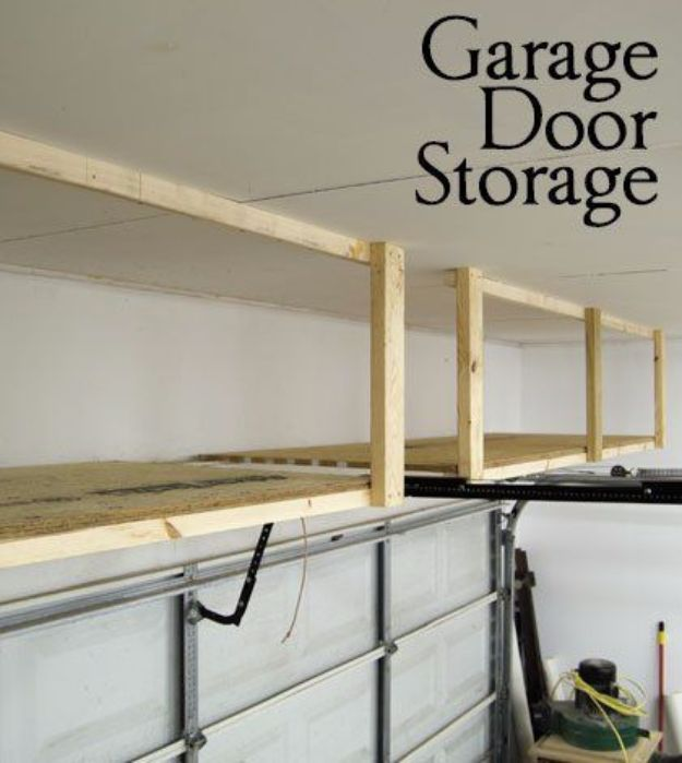 DIY Projects Your Garage Needs - Garage Door Storage - Do It Yourself Garage Makeover Ideas Include Storage, Mudroom, Organization, Shelves, and Project Plans for Cool New Garage Decor - Easy Home Decor on A Budget http://diyjoy.com/diy-garage-ideas