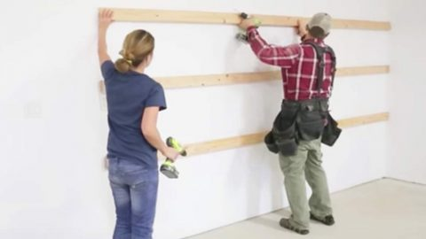 They Nail Boards To Garage Wall. What They Do Next Is Easy, Cheap And Fast! | DIY Joy Projects and Crafts Ideas