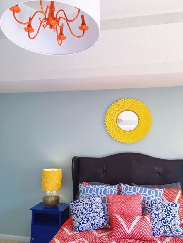 DIY Chandelier Makeovers - Give Your Chandelier A Pop Of Color - Easy Ideas for Old Brass, Crystal and Ugly Gold Chandelier Makeover - Cool Before and After Projects for Chandeliers - Farmhouse, Shabby Chic and Vintage Home Decor on A Budget - Living Room, Bedroom and Dining Room Idea DIY Joy Projects and Crafts