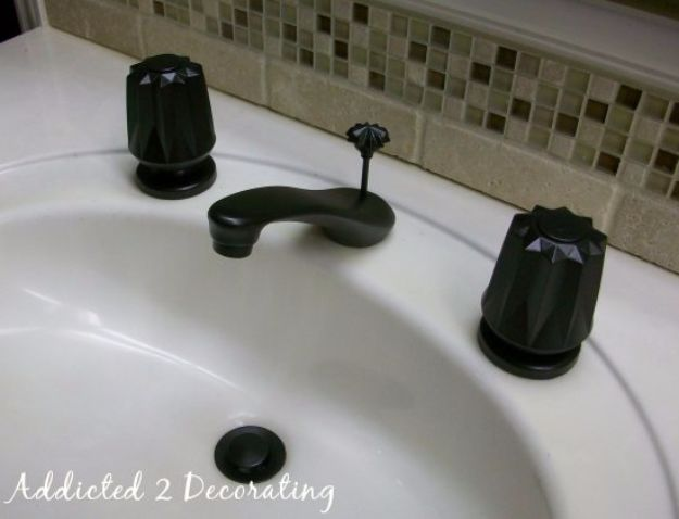 DIY Home Improvement Projects On A Budget - Give Your Faucet A Face-Lift - Cool Home Improvement Hacks, Easy and Cheap Do It Yourself Tutorials for Updating and Renovating Your House - Home Decor Tips and Tricks, Remodeling and Decorating Hacks - DIY Projects and Crafts by DIY JOY http://diyjoy.com/diy-home-improvement-ideas-budget
