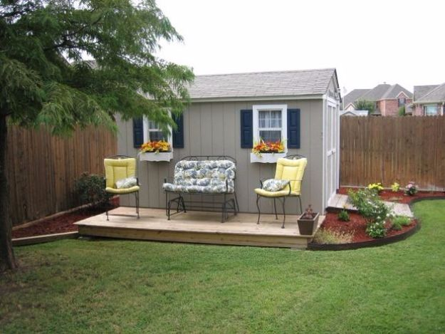DIY Storage Sheds and Plans - Improve the Looks of a Storage Shed - Cool and Easy Storage Shed Makeovers, Cheap Ideas to Build This Weekend, Basic Woodworking Projects to Add Extra Storage Space to Your Home or Small Backyard - How To Build A Shed With Pallets - Step by Step Tutorials and Instructions http://diyjoy.com/diy-storage-sheds-plans