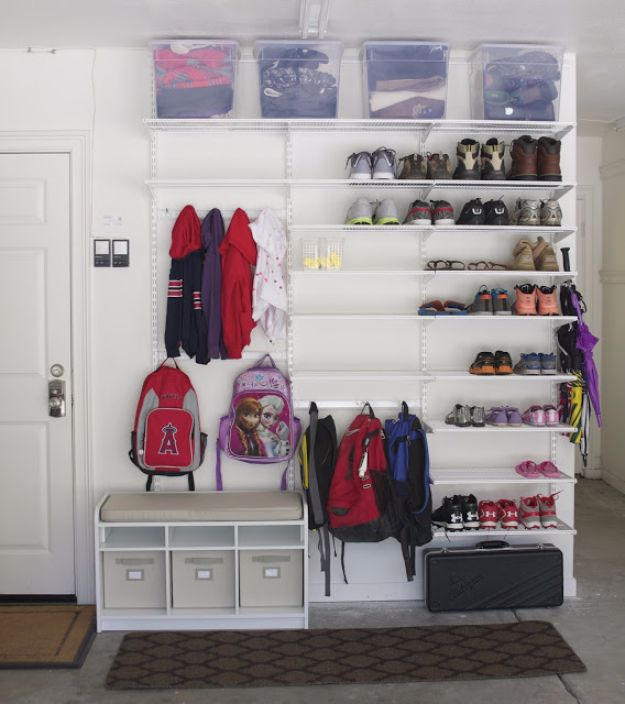 DIY Projects Your Garage Needs - Incredibly Organized Garage - Do It Yourself Garage Makeover Ideas Include Storage, Mudroom, Organization, Shelves, and Project Plans for Cool New Garage Decor - Easy Home Decor on A Budget http://diyjoy.com/diy-garage-ideas