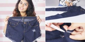 She Cuts Her Jeans Off For Shorts And They're Crooked. Watch What She Does Next!