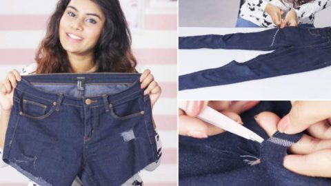 She Cuts Her Jeans Off For Shorts And They're Crooked. Watch What She Does Next! | DIY Joy Projects and Crafts Ideas