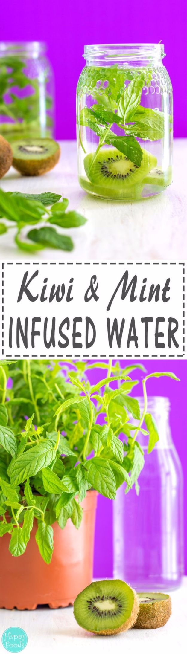 DIY Spa Day Ideas - Kiwi And Mint Infused Water - Easy Sugar Scrubs, Lotions and Bath Ideas for The Best Pampering You Can Do At Home - Lavender Projects, Relaxing Baths and Bath Bombs, Tub Soaks and Facials - Step by Step Tutorials for Luxury Bath Products