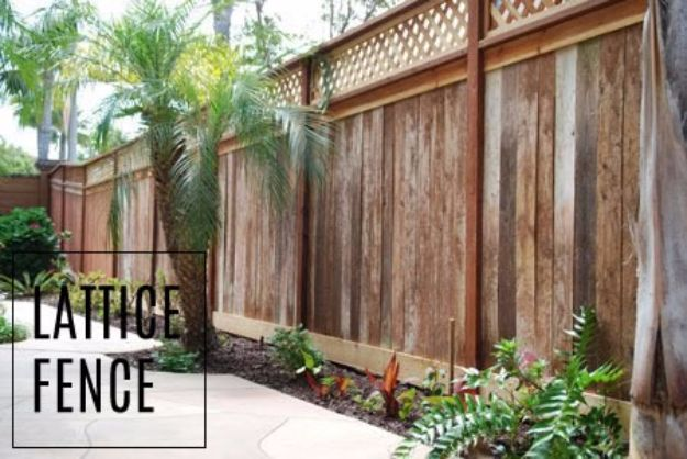DIY Ideas With Old Fence Posts - Lattice Fence - Rustic Farmhouse Decor Tutorials and Projects Made With An Old Fence Post - Easy Vintage Shelving, Wall Art, Picture Frames and Home Decor for Kitchen, Living Room and Bathroom - Creative Country Crafts, Seating, Furniture, Patio Decor and Rustic Wall Art and Accessories to Make and Sell