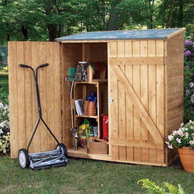 DIY Storage Sheds and Plans - Little Tool Shed - Cool and Easy Storage Shed Makeovers, Cheap Ideas to Build This Weekend, Basic Woodworking Projects to Add Extra Storage Space to Your Home or Small Backyard - How To Build A Shed With Pallets - Step by Step Tutorials and Instructions #storageideas #diyideas #diyhome