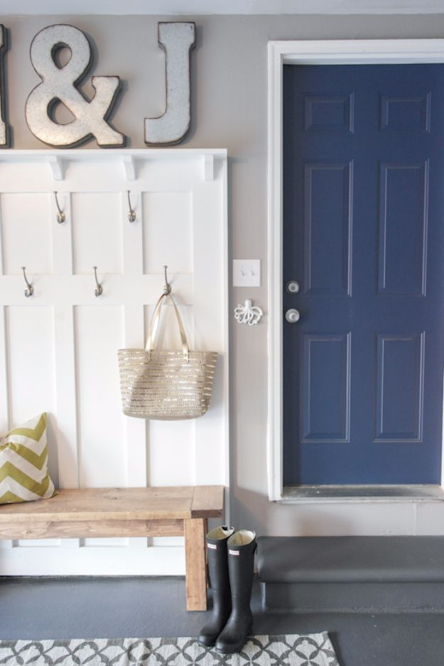 DIY Projects Your Garage Needs - Mud Room Garage - Do It Yourself Garage Makeover Ideas Include Storage, Mudroom, Organization, Shelves, and Project Plans for Cool New Garage Decor - Easy Home Decor on A Budget http://diyjoy.com/diy-garage-ideas