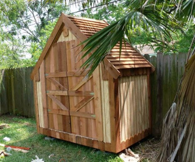 DIY Storage Sheds and Plans - Narrow Backyard Shed - Cool and Easy Storage Shed Makeovers, Cheap Ideas to Build This Weekend, Basic Woodworking Projects to Add Extra Storage Space to Your Home or Small Backyard - How To Build A Shed With Pallets - Step by Step Tutorials and Instructions http://diyjoy.com/diy-storage-sheds-plans