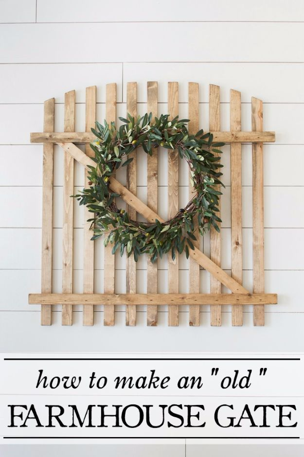 Farmhouse Decor to Make And Sell - Old Farmhouse Gate - Easy DIY Home Decor and Rustic Craft Ideas - Step by Step Country Crafts, Farmhouse Decor To Make and Sell on Etsy and at Craft Fairs - Tutorials and Instructions for Creative Ways to Make Money - Best Vintage Farmhouse DIY For Living Room, Bedroom, Walls and Gifts #diydecor