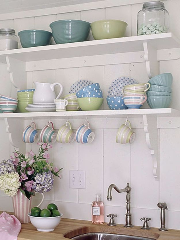 DIY Hacks for Renters - Open Shelving - Easy Ways to Decorate and Fix Things on Rental Property - Decorate Walls, Cheap Ideas for Making an Apartment, Small Space or Tiny Closet Work For You - Quick Hacks and DIY Projects on A Budget - Step by Step Tutorials and Instructions for Simple Home Decor http://diyjoy.com/diy-hacks-renters