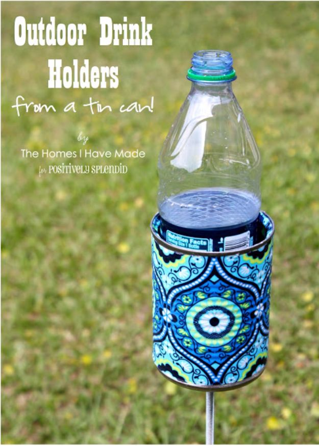 DIY Camping Hacks - Outdoor Drink Holder - Easy Tips and Tricks, Recipes for Camping - Gear Ideas, Cheap Camping Supplies, Tutorials for Making Quick Camping Food, Fire Starters, Gear Holders and More