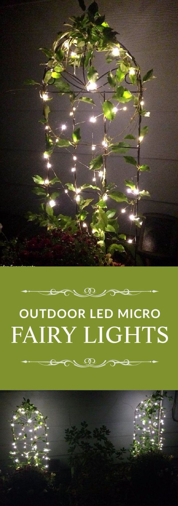 DIY Outdoor Lighting Ideas - Outdoor Fairy Lights - Do It Yourself Lighting Ideas for the Backyard, Patio, Porch and Pool - Lights, Chandeliers, Lamps and String Lights for Your Outdoors - Dining Table and Chair Lighting, Overhead, Sconces and Weatherproof Projects #diy #lighting