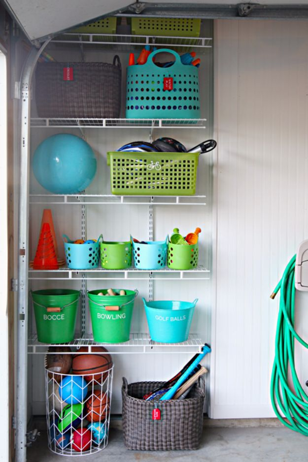 DIY Projects Your Garage Needs - Outdoor Toy Storage - Do It Yourself Garage Makeover Ideas Include Storage, Mudroom, Organization, Shelves, and Project Plans for Cool New Garage Decor - Easy Home Decor on A Budget http://diyjoy.com/diy-garage-ideas