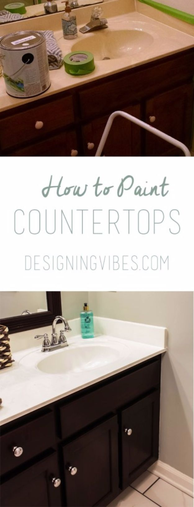 DIY Home Improvement Projects On A Budget - Paint Cultured Marble Countertops - Cool Home Improvement Hacks, Easy and Cheap Do It Yourself Tutorials for Updating and Renovating Your House - Home Decor Tips and Tricks, Remodeling and Decorating Hacks - DIY Projects