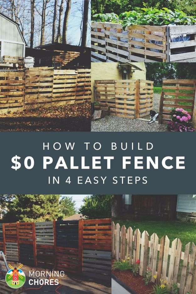 DIY Ideas With Old Fence Posts - Pallet Fence - Rustic Farmhouse Decor Tutorials and Projects Made With An Old Fence Post - Easy Vintage Shelving, Wall Art, Picture Frames and Home Decor for Kitchen, Living Room and Bathroom - Creative Country Crafts, Seating, Furniture, Patio Decor and Rustic Wall Art and Accessories to Make and Sell