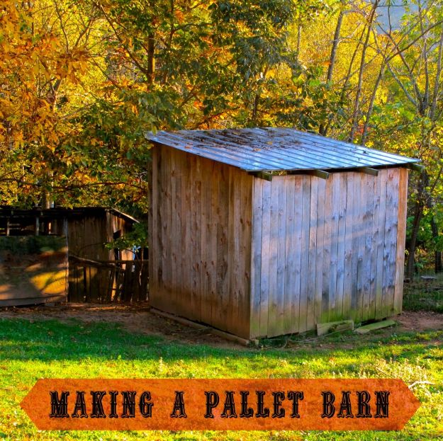 DIY Storage Sheds and Plans - Pallet Storage Barn - Cool and Easy Storage Shed Makeovers, Cheap Ideas to Build This Weekend, Basic Woodworking Projects to Add Extra Storage Space to Your Home or Small Backyard - How To Build A Shed With Pallets - Step by Step Tutorials and Instructions http://diyjoy.com/diy-storage-sheds-plans