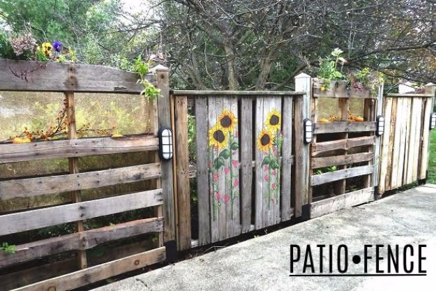 DIY Ideas With Old Fence Posts - Patio Fence - Rustic Farmhouse Decor Tutorials and Projects Made With An Old Fence Post - Easy Vintage Shelving, Wall Art, Picture Frames and Home Decor for Kitchen, Living Room and Bathroom - Creative Country Crafts, Seating, Furniture, Patio Decor and Rustic Wall Art and Accessories to Make and Sell http://diyjoy.com/diy-projects-old-windows